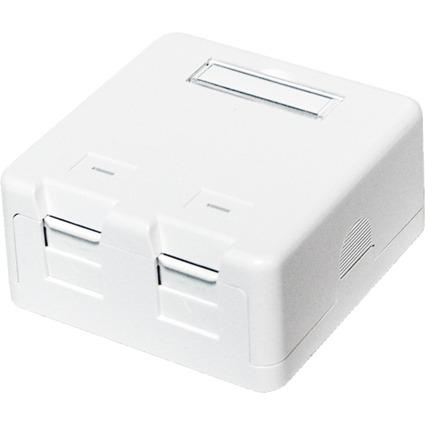 LogiLink Aufputzdose für Keystone Module, 2-fach, weiß