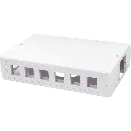 LogiLink Aufputzdose für Keystone Module, 12-fach, weiß