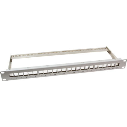 "LogiLink 19"" Keystone Patch Panel, geschirmt, lichtgrau"