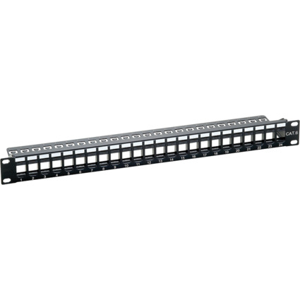 "LogiLink 19"" Keystone Patch Panel, ungeschirmt, schwarz"