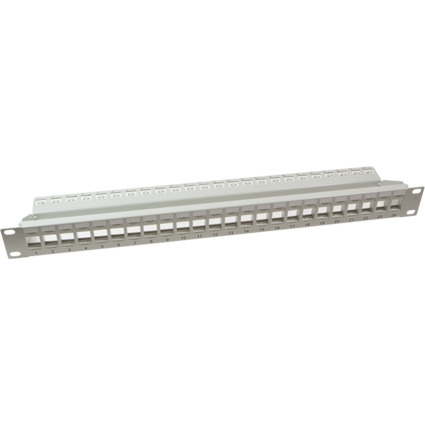 "LogiLink 19"" Keystone Patch Panel, ungeschirmt, lichtgrau"