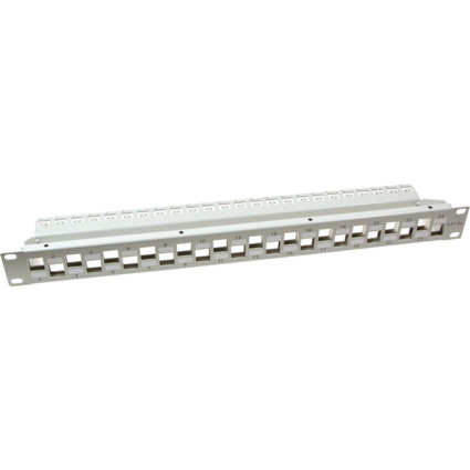 "LogiLink 19"" Keystone Patch Panel, 24 Port, lichtgrau"