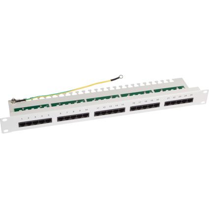 "LogiLink 19"" ISDN Patch Panel Kat.3, 25-Ports, lichtgrau"