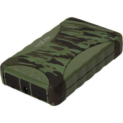 LogiLink Mobiler Zusatzakku, 8.800 mAh, Camouflage