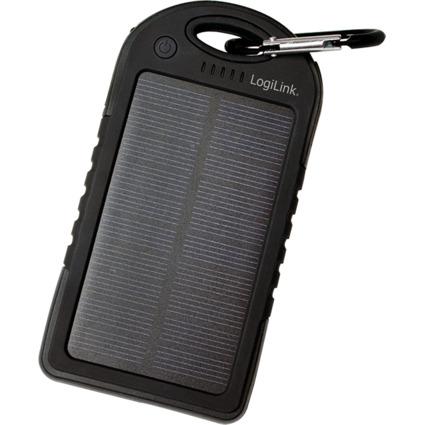 LogiLink Universal Solar Ladegerät, 5.000 mAh, schwarz