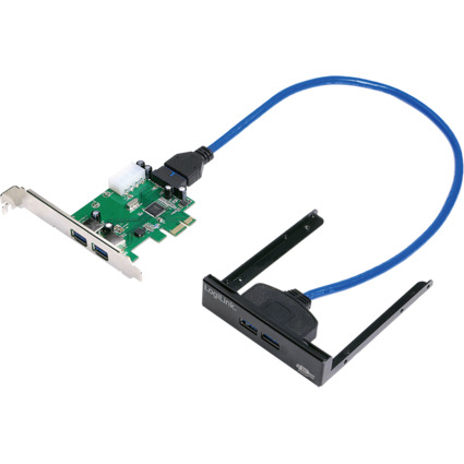 LogiLink USB 3.0 PCI-Express Karte, 2 Port, 5 GBit/Sek.