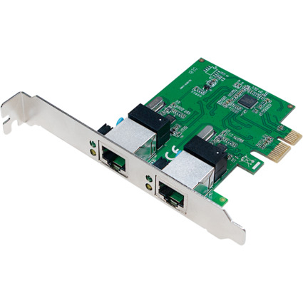 LogiLink PCI Gigabit Ethernet RJ45 Netzwerkadapter, 2-Port