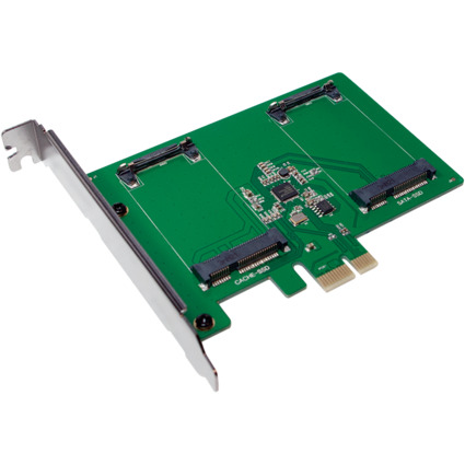 LogiLink PCI-Express Karte, 2 x mSATA SSD