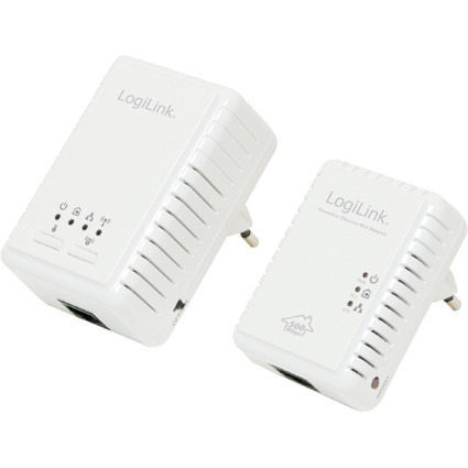 LogiLink Powerline WLAN Adapter Starter-Set, 500 MBit/Sek.