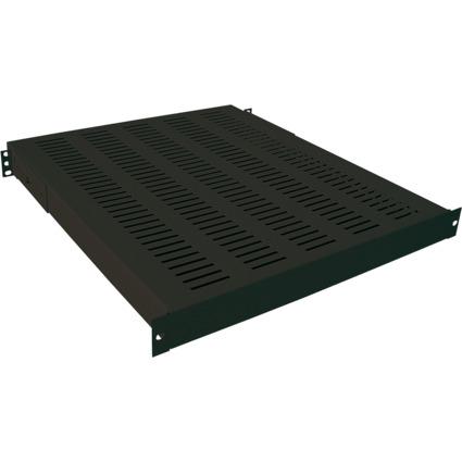 """LogiLink 19"""" Schwerlast-Fachboden, 1 HE, (T)600 mm, schwarz"""