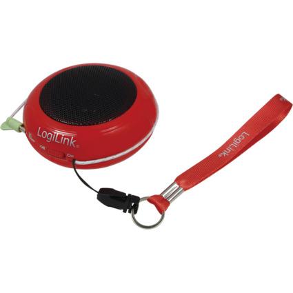 LogiLink Portabler Mini-Lautsprecher, rot