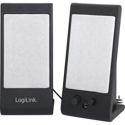 LogiLink 2.0 Lautsprecher System mit USB Power, schwarz