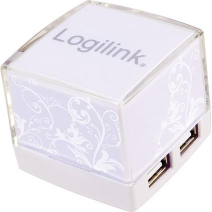 LogiLink USB 2.0 Hub Cube, 4 Port, weiß