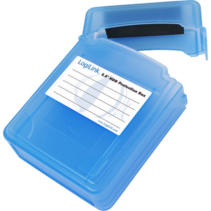 """LogiLink HDD-Box für 2 x 2,5"""" Festplatten, blau"""