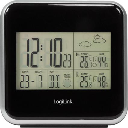 LogiLink elektronische Wetterstation, schwarz