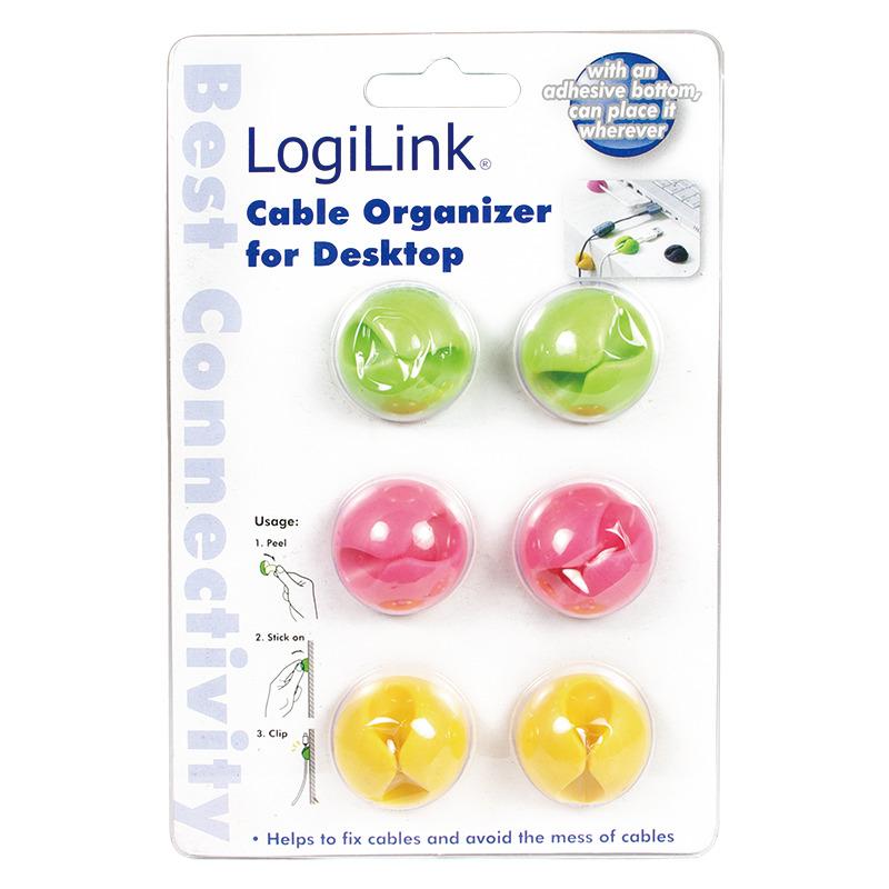 logilink kabel clip selbstklebend in rosa gr n gelb kab0010 bei g nstig kaufen. Black Bedroom Furniture Sets. Home Design Ideas