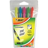 "BIC textmarker ""Technolight"", 5er Etui, liquid Ink Technik"