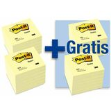 Post-it Haftnotizen, 76 x 76 mm, gelb, 12+12 gratis