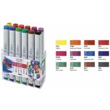 COPIC profi Marker, 12er set Leuchtfarben