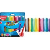Maped wachsmalststift COLOR'PEPS PlastiClean, 24er Etui