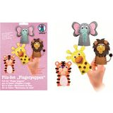 "URSUS bastelfilz-set Fingerpuppen ""Wildtiere"""
