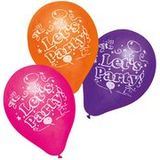 "SUSY card Luftballons ""Let""s Party"", farbig sortiert"