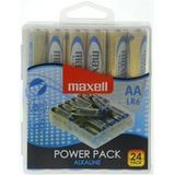 "maxell alkaline Batterie ""Power Pack"", mignon AA, 24er Box"