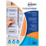 AVERY intercalaires IndexMaker, PP, 12 touches, transparent