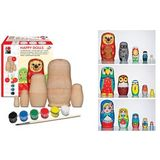 "Marabu matryoshka-set ""HAPPY DOLLS"", 5-teilig, Holz"