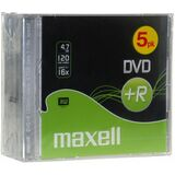 maxell DVD+R, 120 Minuten, 4.7 gb Data, 16x, 5er jewel Case