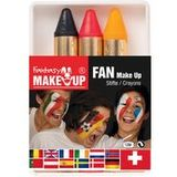 "KREUL schminkstifte-set ""Fantasy fan Make Up"", 3 Farben"