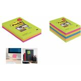 Post-it super Sticky Notes, 101 x 101 mm, liniert, pack 8+4
