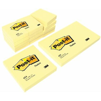 Post-it Haftnotizen, 102 x 76 mm, gelb