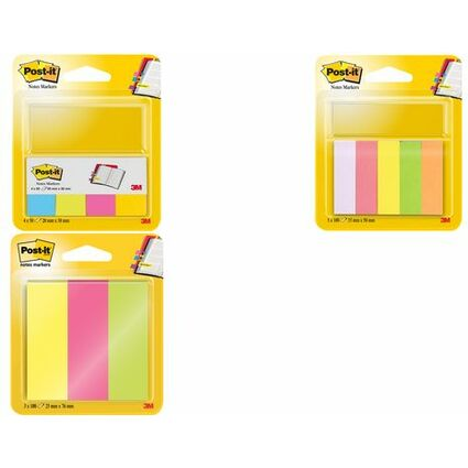 Post-it Pagemarker aus Papier, 20 x 38 mm, Neonfarben