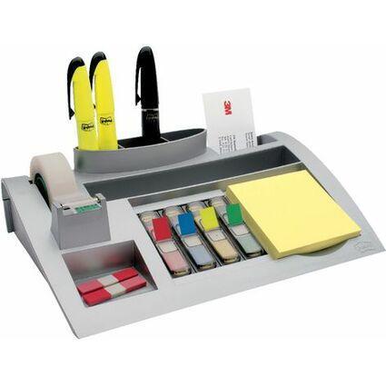 Post-it Schreibtisch Organizer, silber, bestückt