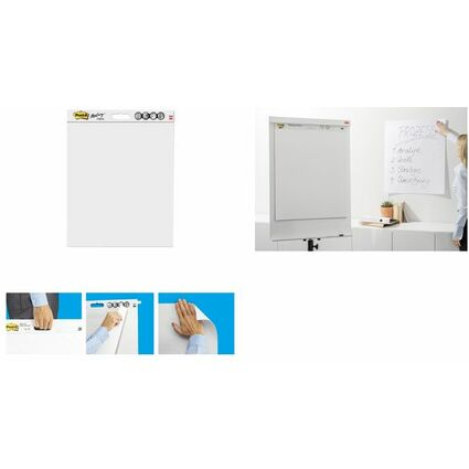 Post-it Meeting Charts Block, 635 x 762 mm, weiß, 1 + gratis