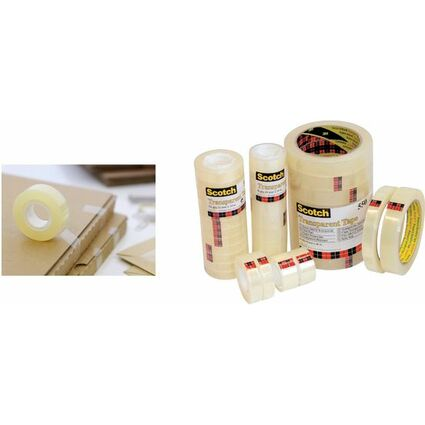 Scotch Klebefilm 550, transparent, 19 mm x 66 m, Folie