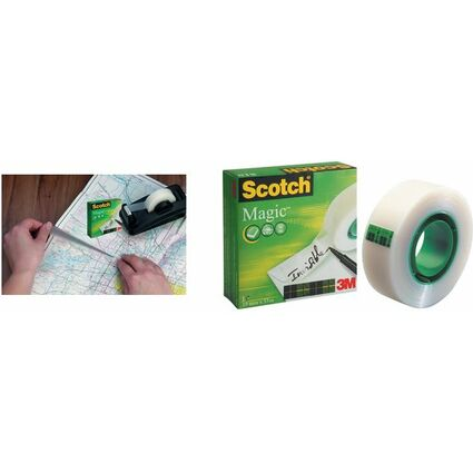 3M Scotch Klebefilm Magic 810, unsichtbar, 12 mm x 66 m