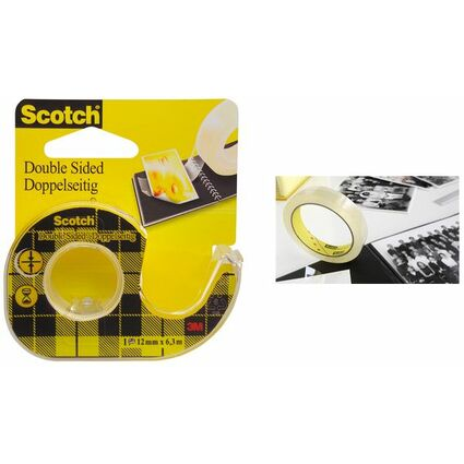 Scotch doppelseitiger Klebefilm 665, 12 mm x 6,3 m