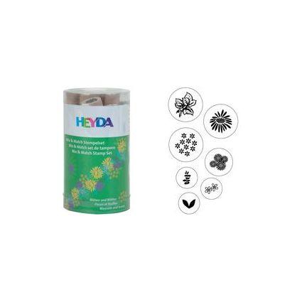 "HEYDA Motivstempel-Set Mix & Match ""Blüten & Blätter"""