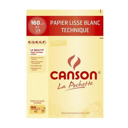 CANSON technisches Zeichenpapier, DIN A3, 200 g/qm, weiß