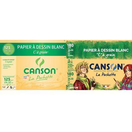 """CANSON Zeichenpapier """"C"""" à Grain, DIN A4, 224 g/qm"""