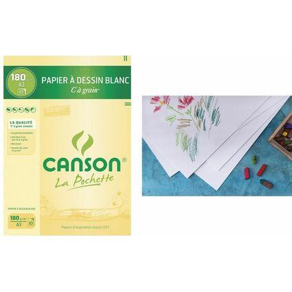 """CANSON Zeichenpapier """"C"""" à Grain, DIN A3, 180 g/qm"""