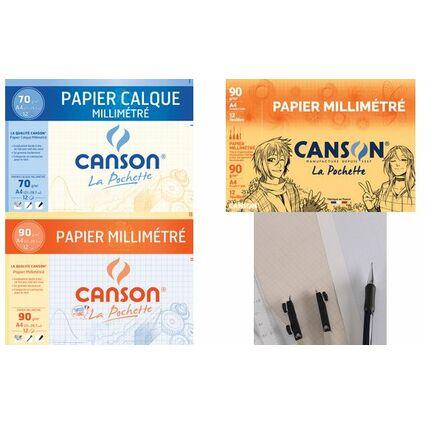 CANSON Millimeterpapier, DIN A4, 90 g/qm, Farbe: dunkelbraun