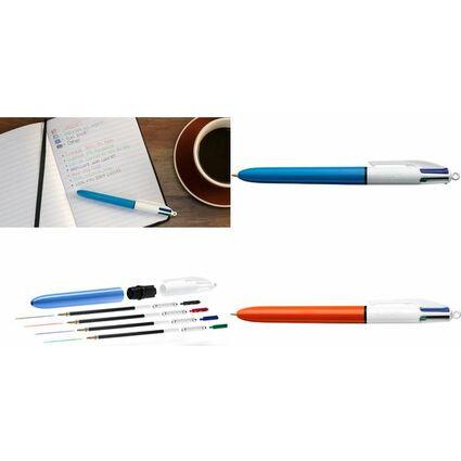 BIC Druckkugelschreiber 4 Colours, Strichstärke: 0,30 mm