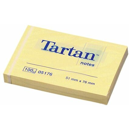 Tartan Notes Haftnotizen, 51 x 76 mm, hellgelb,
