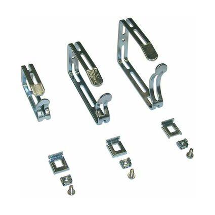 apranet Kabelbügel-Set aus Stahl, (B)125 x (T)23 x (H)88 mm