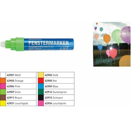 KREUL Fenstermarker Hobby Line Glas Design, orange