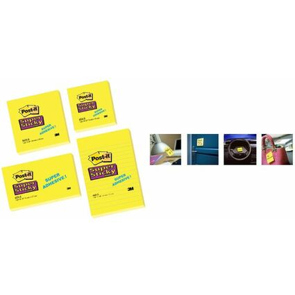 Post-it Haftnotizen Super Sticky Notes, 102x152 mm