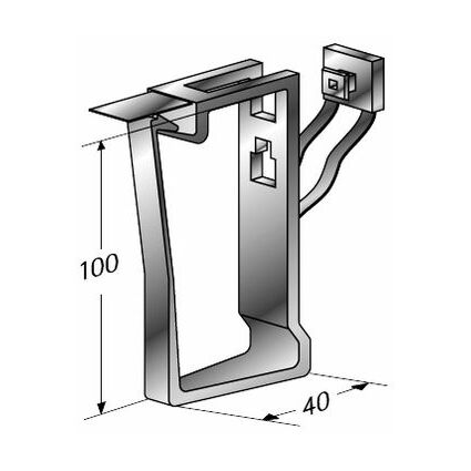 apranet Kabelbügel aus Kunststoff, (B)40 x (H)100 mm